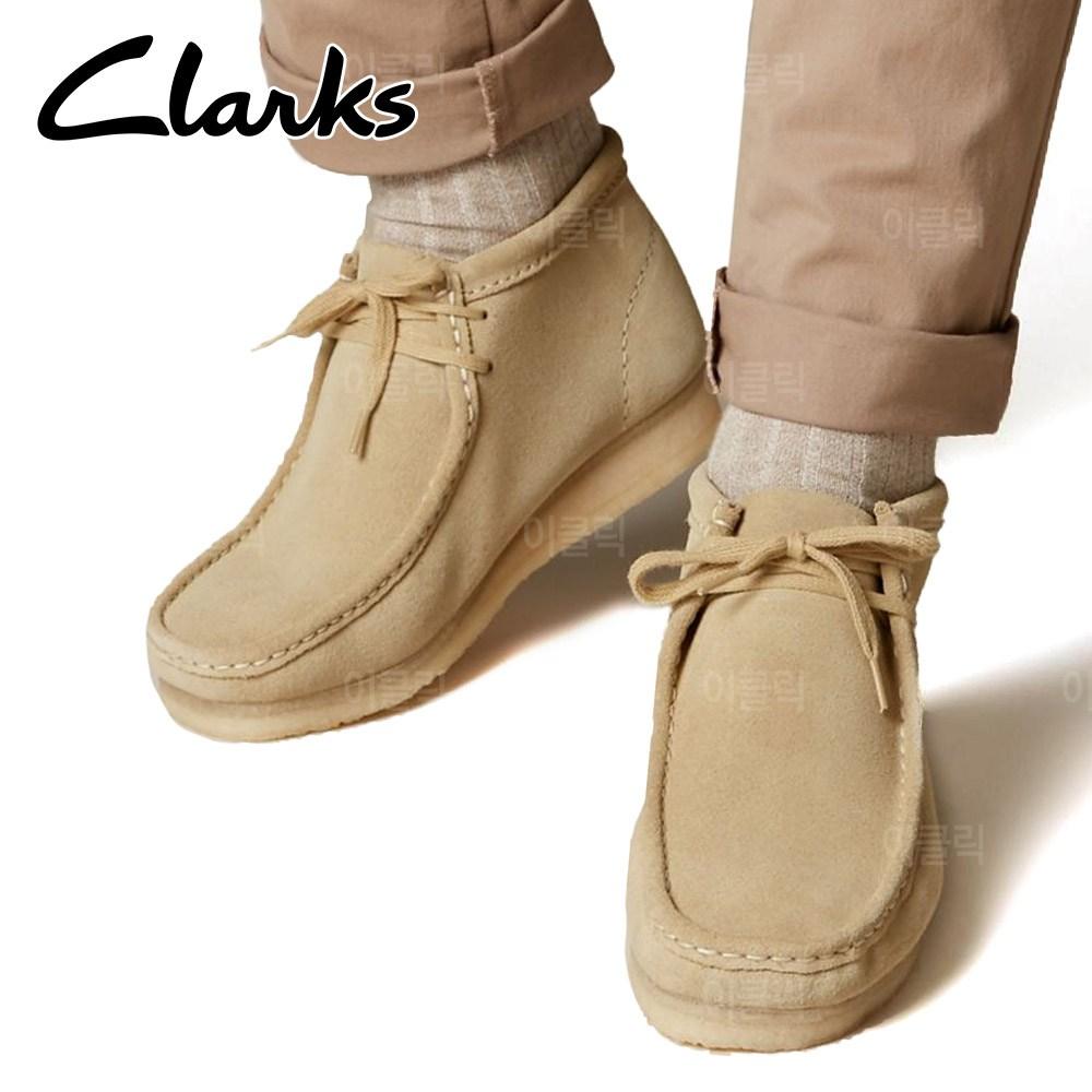클락스 왈라비 스웨이드 부츠 샌드 브라운 남자 겨울 신발 워커