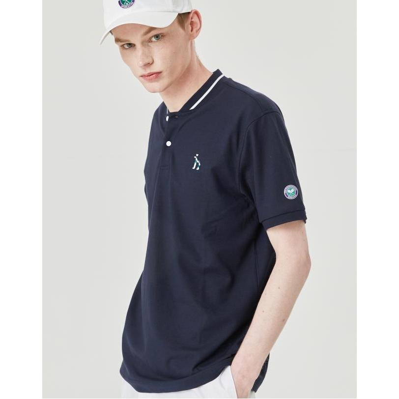 헤지스 남성용 윔블던 라인 쿨터치 밴드카라 티셔츠 HZTS0B054N2