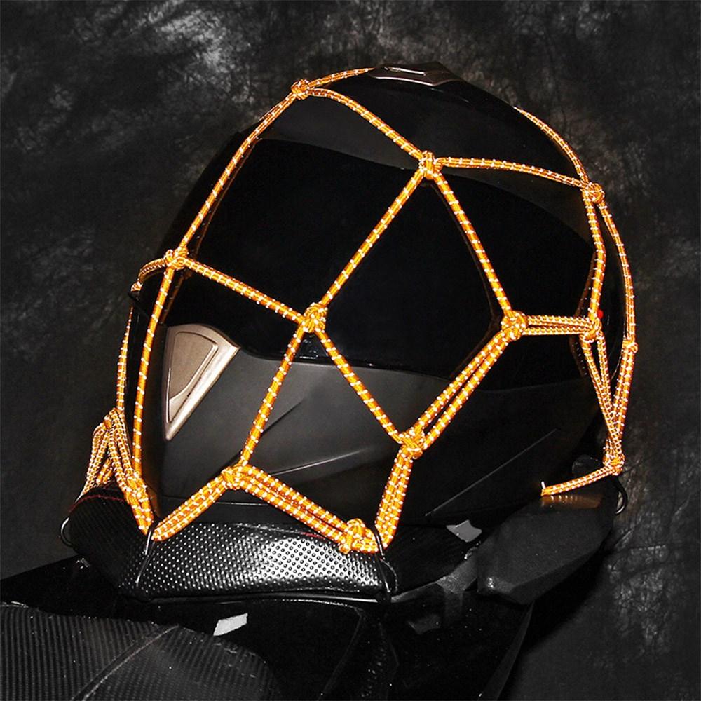 티제이 오토바이 다용도 반사 그물망 헬멧망 고정망, 블랙 (POP 1323950440)