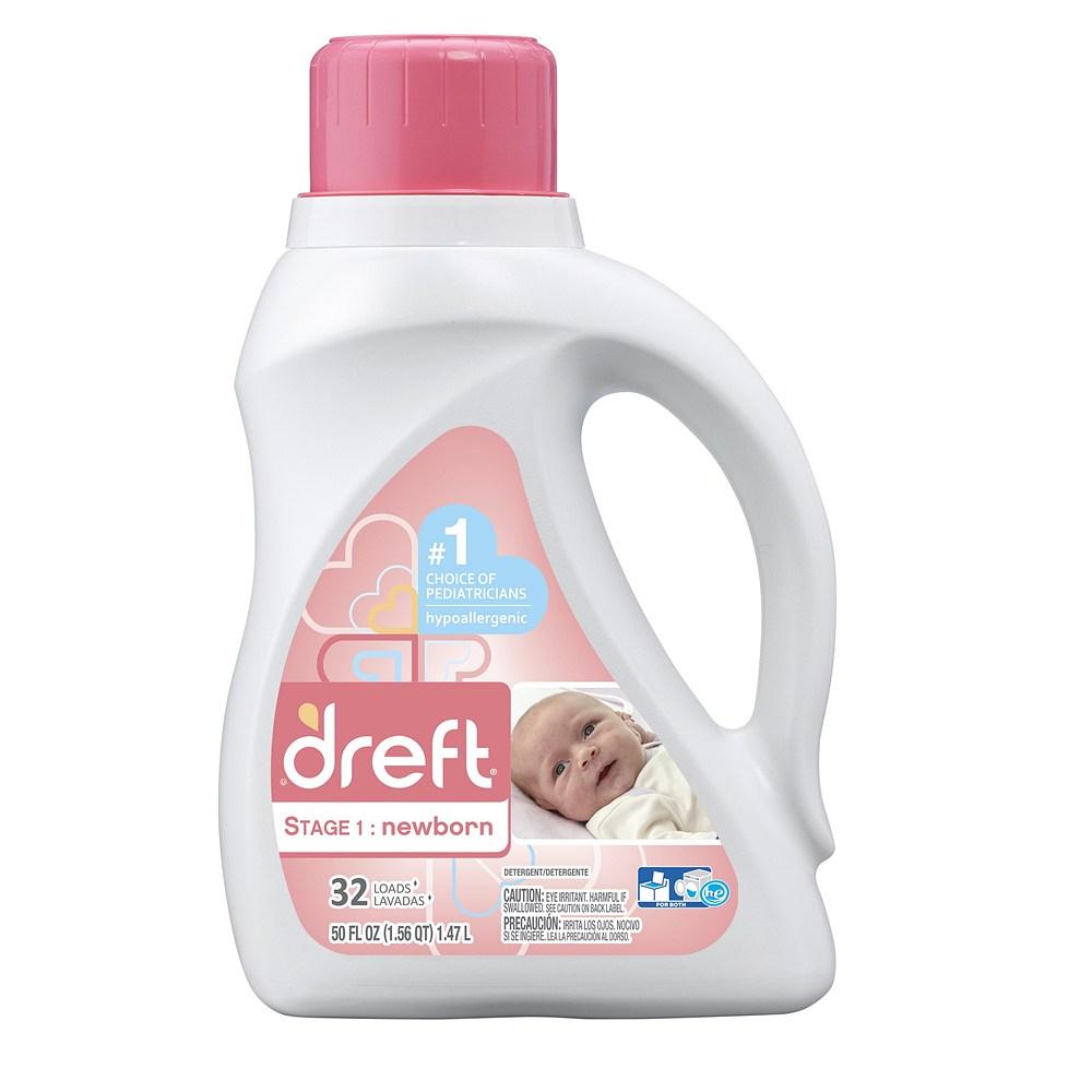 Dreft Liquid Laundry Detergent 드레프트 1단계 유아 세탁 세제 1.47L