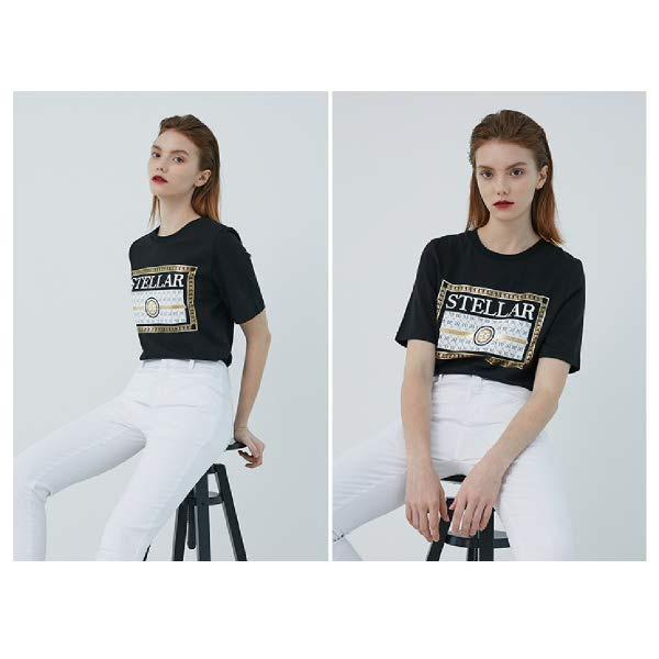 [현대백화점][에고이스트] EM2OTH02 EG [Blue Label] 텍스트 레터링 아트웍 반팔 티셔츠