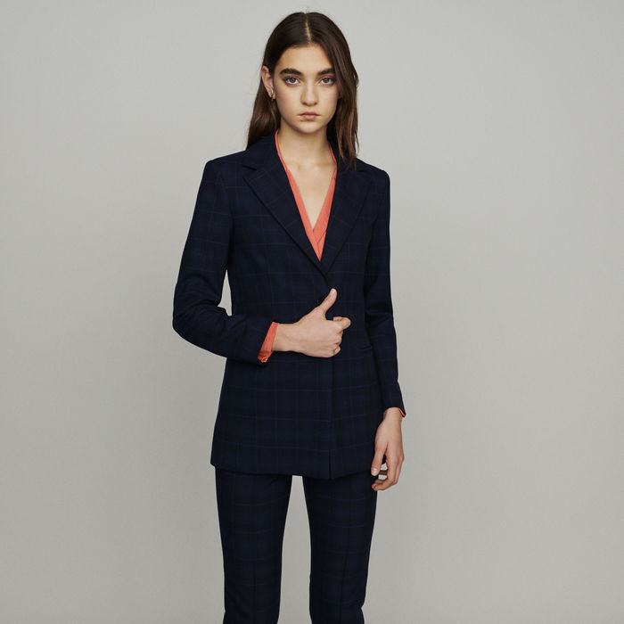 MAJE Jacket with check print