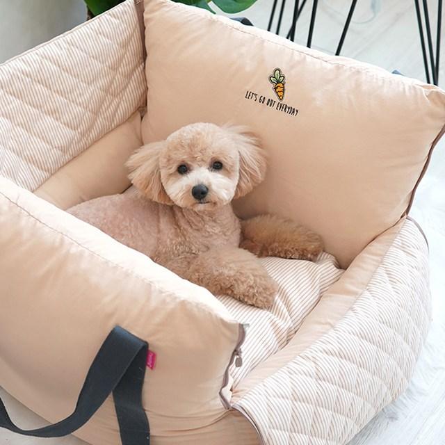 패리스독 꿀잠 방수 강아지 카시트 드라이빙킷, 베이지