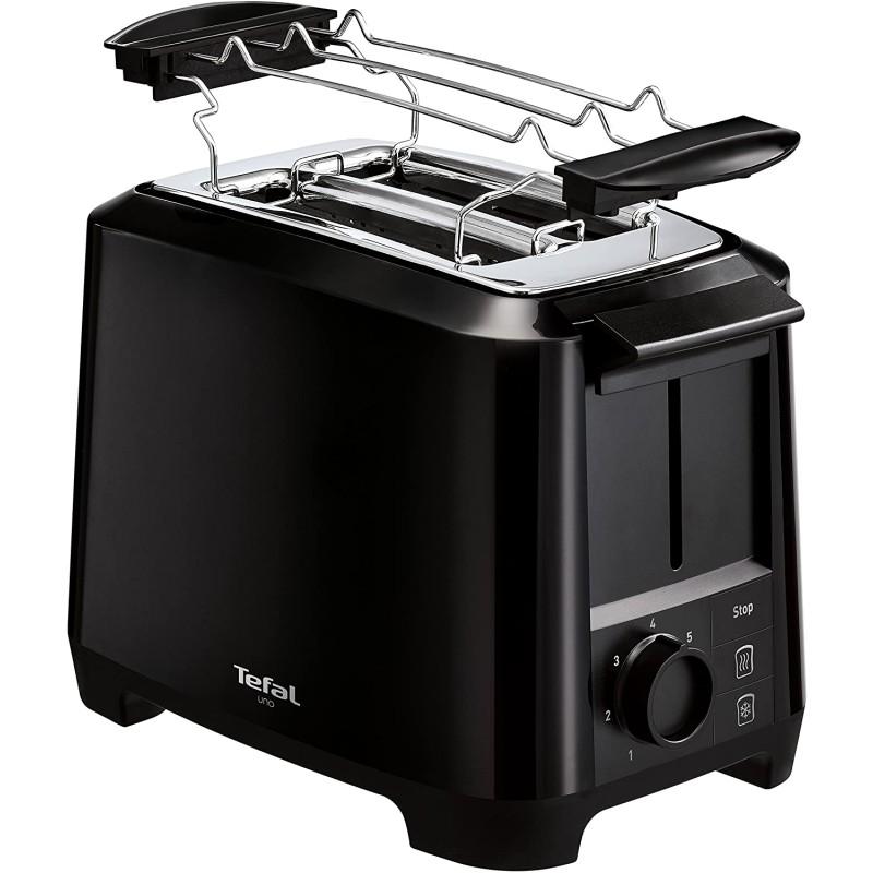 [독일] 테팔 우노 TT1408 디스크 토스터 7 염수 수준 (800 와트) 블랙, 단일상품