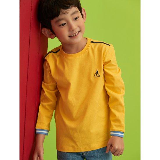 빈폴키즈 옐로우 베이직 라운드 티셔츠 (BI0741U01E)