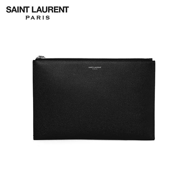 명품 SAINT LAURENT 생로랑 375950 BTY0N 1000 공용 클래식 페블 클러치백 미니