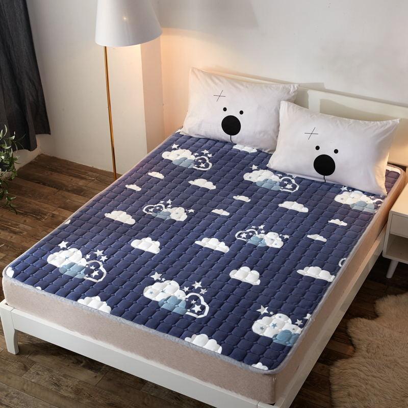 토퍼 템퍼 매트리스 침구 기타 겨울 기모 쿠션 학생 기숙사 싱글 담요 침대, AC_1.2 X 2m