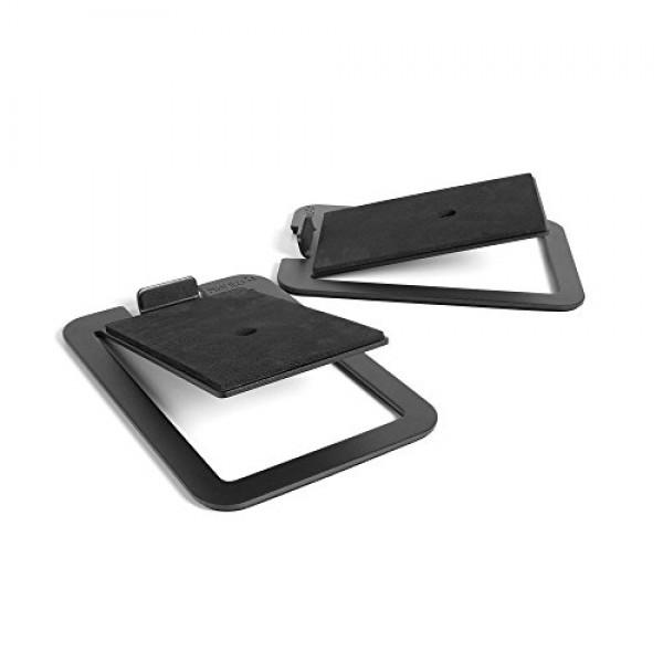 Kanto S4 데스크탑 스피커는 중형 스피커 용 검은 색