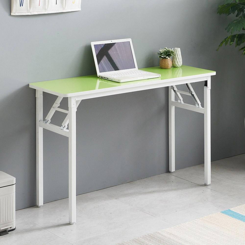 프리메이드 접이식 라운드 테이블 슬림, 그린