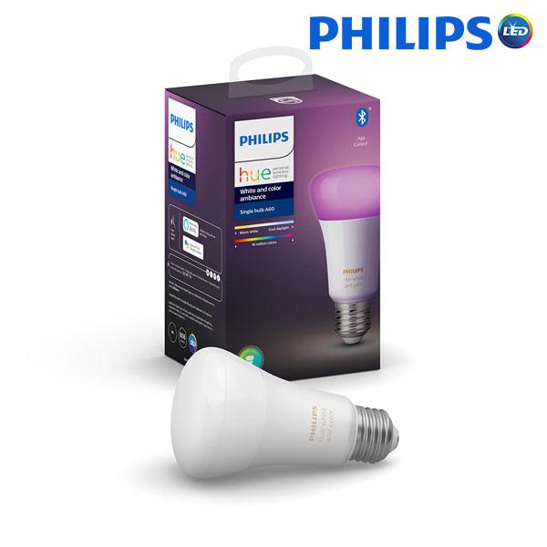 필립스 LED 휴 4.0 9W 블루투스 컬러 램프 벌브 전구, 1개