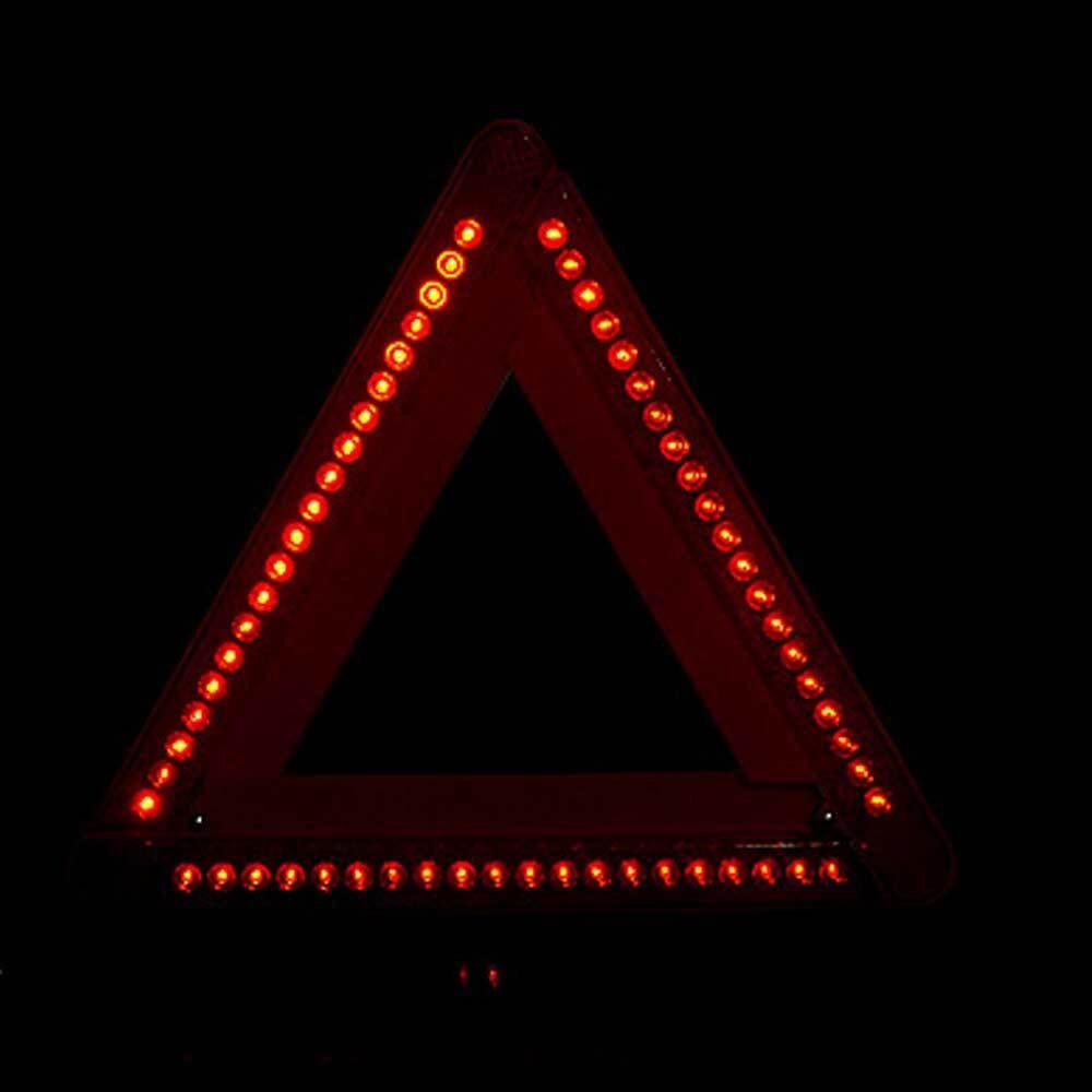 안전 삼각대 건전지 사용 야간 보관 접이식 LED AA, 1개