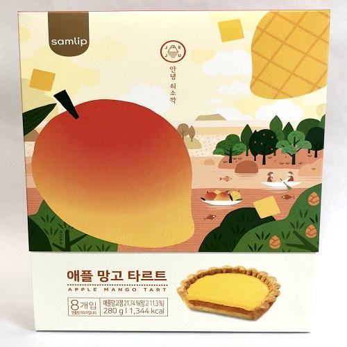 (주)에스피씨삼립 제주 애플 망고타르트 선물세트 과자, 1박스