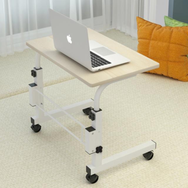 스탠딩 미니 사이드 책상 높이조절 원룸 거실 침대 밥상 노트북 테이블, 미니사이드-밀크