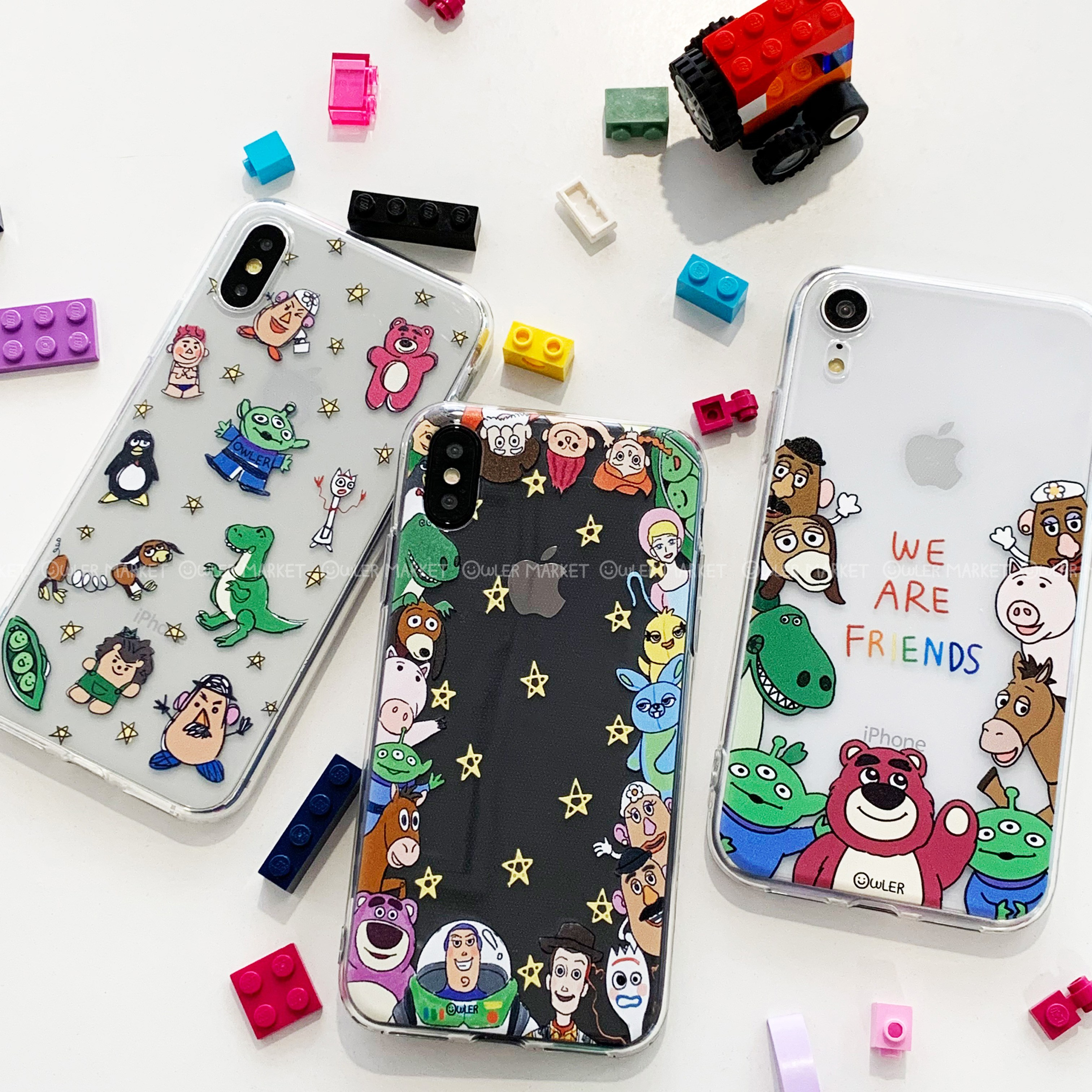 아울러마켓 토이스토리 아이폰 갤럭시 캐릭터 젤리 케이스 2019 NEW버전 휴대폰