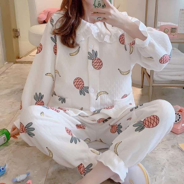 프리커 임산부 잠옷 수유복 세트