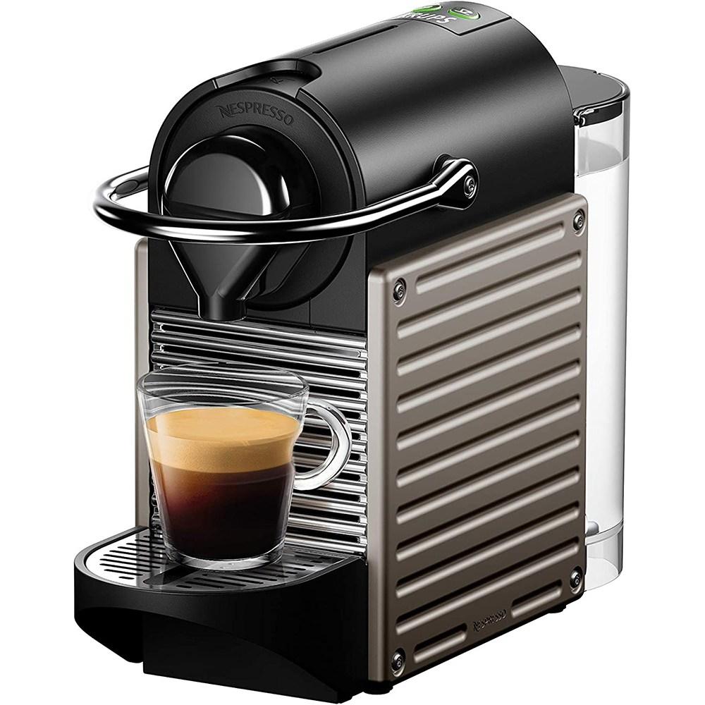 네스프레소 커피머신 픽시 XN304T 타이탄 웰컴 14캡슐 포함, XN304T 티탄