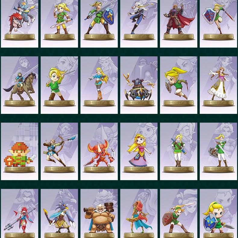 닌텐도 젤다의 전설 야생의 숨결 아미보 카드 모음 젤다 AMIBO, 24개입, 24종 플라스틱 미니
