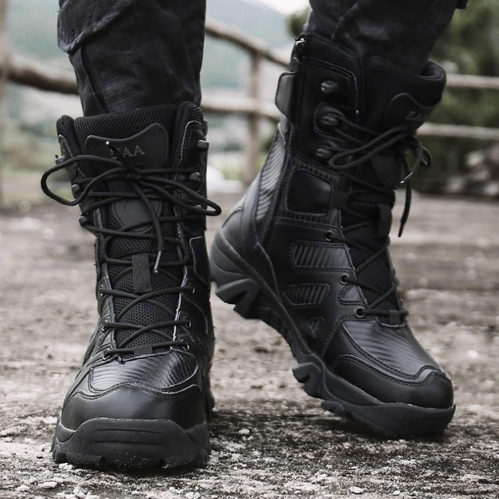 제라카 남성 빅사이즈 워커 전투화 군화 등산화 MF1810