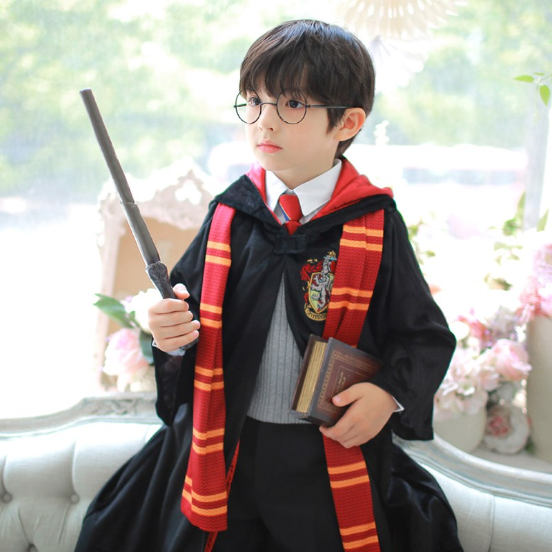 해리포터 그리핀도르 교복세트 망토 지팡이 목도리 할로윈 코스프레 코스튬 아동 어린이