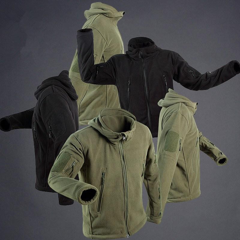 FEILI 남자후리스 전술자켓 가을 겨울 후드 내피 야상 점퍼