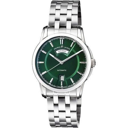 Maurice Lacroix Pontos Automatic Movement Green Dial Mens Watch PT6158-SS002-63E-1 PROD80006072