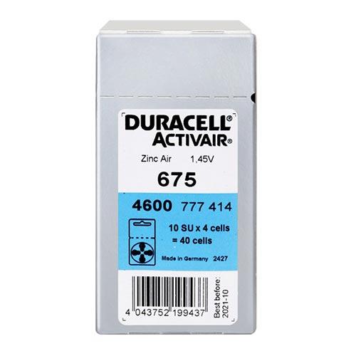 듀라셀 스타키 3통구매시 사은품 보청기배터리건전지 스타키보청기밧데리공용 배터리, 40개, 듀라셀675A