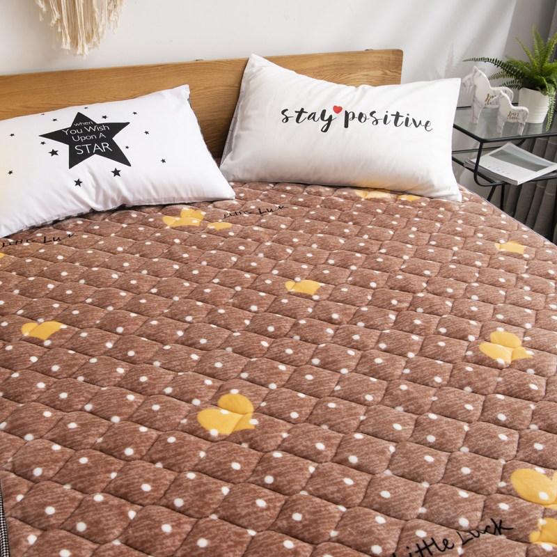 토퍼 템퍼 매트리스 침구 기타 겨울 쿠션 접이식 침대 기모 융털 매트, AM_1.0 x 2.0m