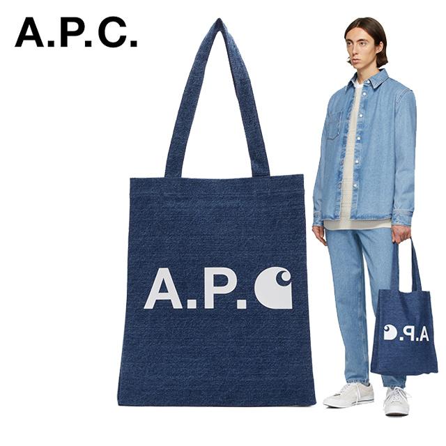 APC 아페쎄 칼하트 WIP 인디고 에디션 에코백 토트백 가방