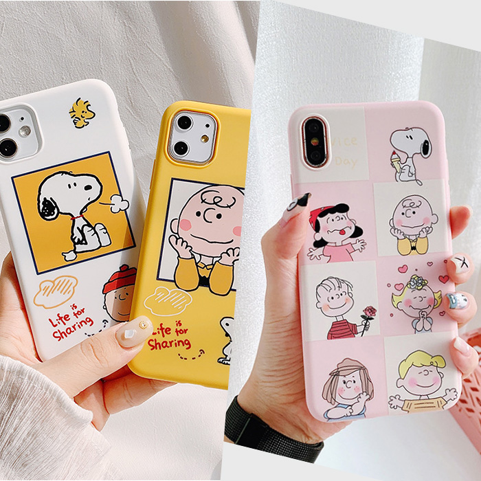 핫티몰 아이폰7 아이폰XS 아이폰11 프로 맥스 찰리브라운 커플 케이스 모음
