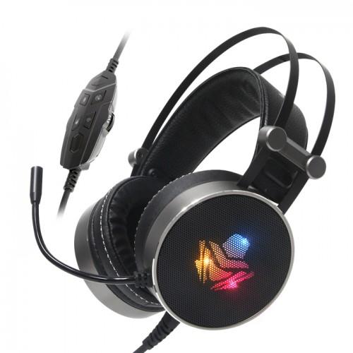 앱코 HACKER() B900U PLUS 음성변조 버추얼 7.1 진동 RGB 게이밍 헤드셋 (블랙), 선택하세요, 단일색상