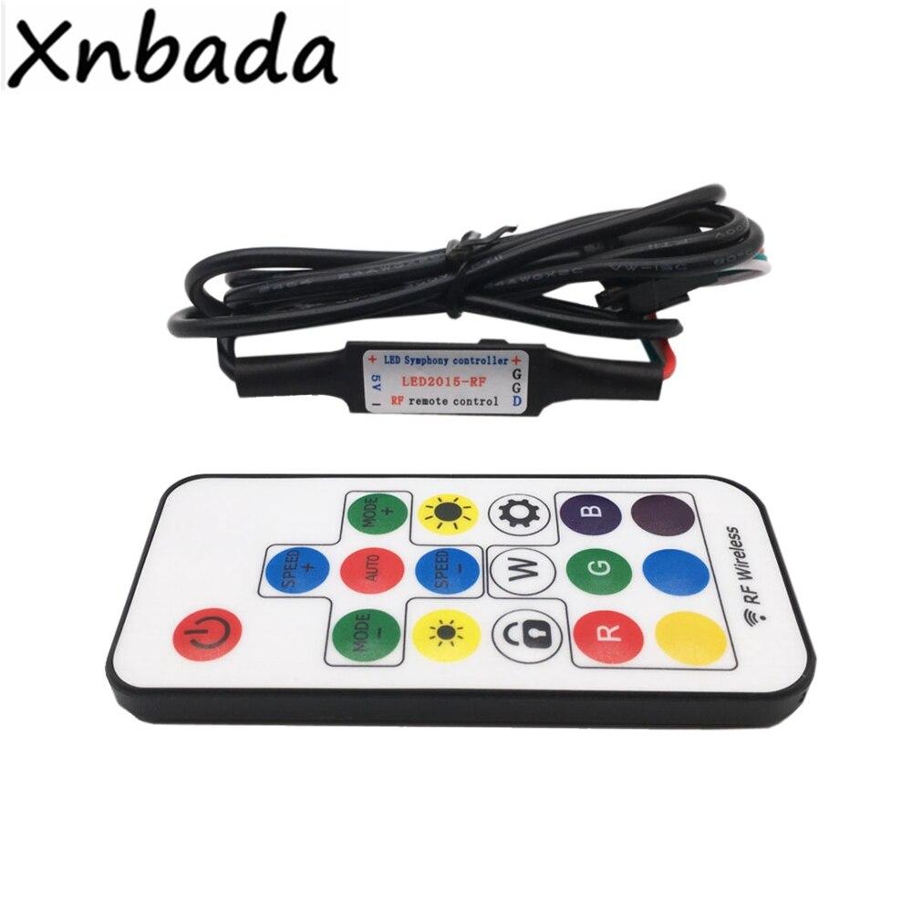 17 키 RGB Led 원격 컨트롤러와 USB Led 무선 RF Led 컨트롤러 WS2811 WS2812B RGB 매직 컬러 Led 스트립 DC5 24V|RGB Controle, 1개, 단일, 단일