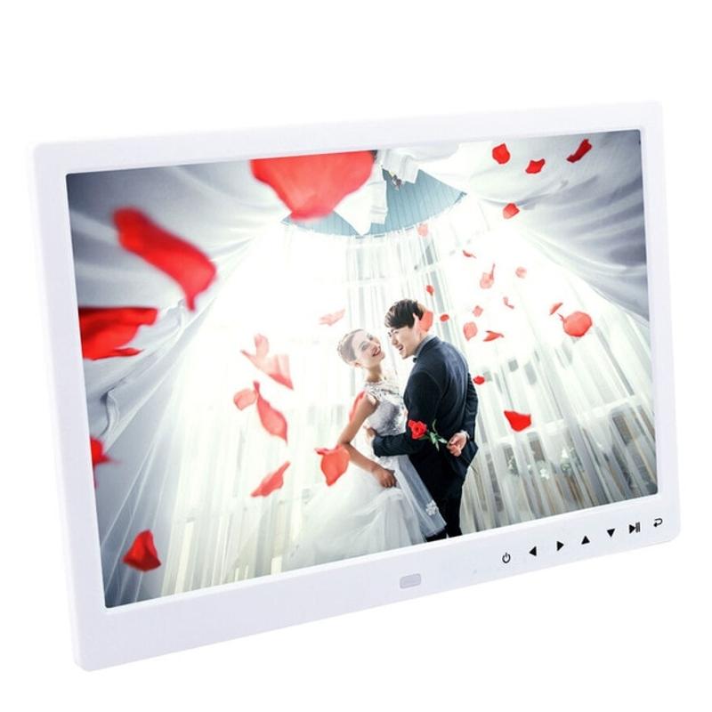 디지털 액자 15 인치 디지털 사진 액자 1280x800 전체 기능 HD LED LED 사진 프레임 지원 뮤직 비디오 전자 앨범 전자 사진, 협동사, 영국 플러그, 15.4인치 화이트