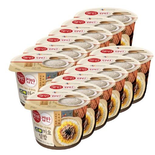 cj 햇반 컵밥 스팸 마요 덮밥 혼밥 캠핑 219g X 12입-5-4824360008