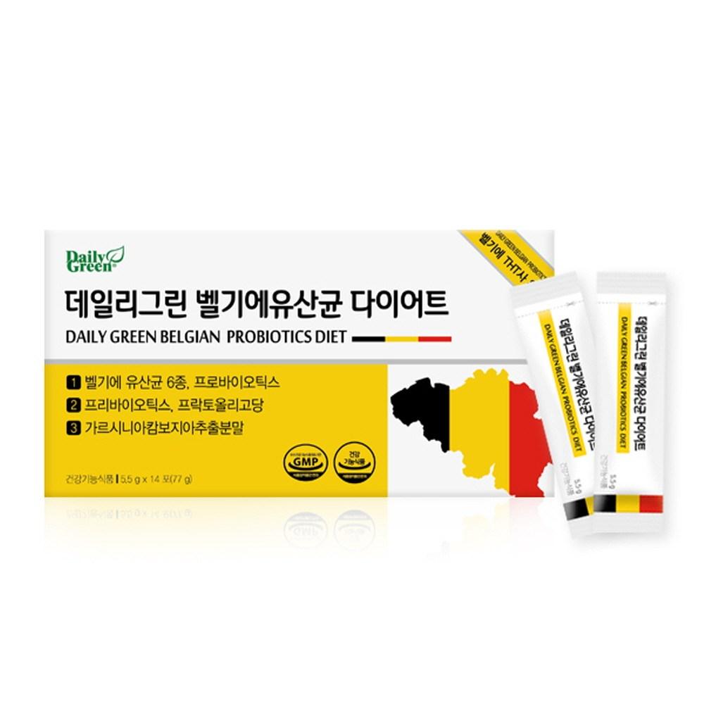데일리그린 다이어트유산균 신바이오틱스 더블기능성 프로바이오틱스 프리바이오틱스 프롤린 프락토올리고당 가르시니아 식물성다이어트 살빠지는 날씬균 벨기에유산균다이어트+장건강365, 1box, 28포