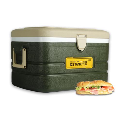 [코멕스]아이스박스 40L 밀리터리그린 캠핑 등산용품, 단품