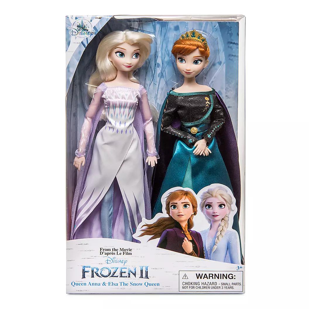 [디즈니] Queen Anna and Snow Elsa Classic Doll Set Frozen 2, 혼합색상