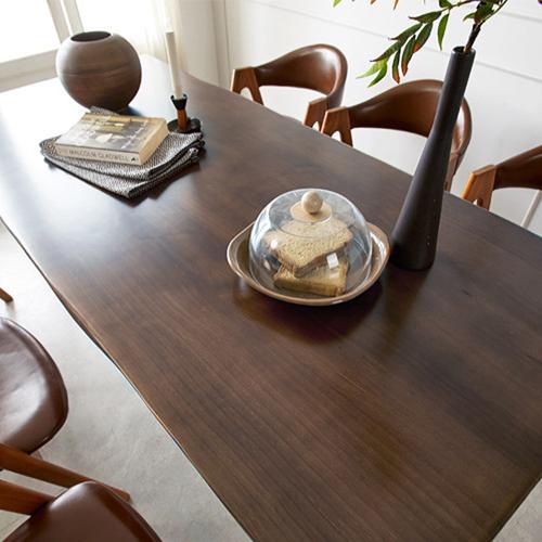 우드슬랩 식탁 홈 카페 테이블 1600 1800 2000, 뉴송 월넛 60T / 1600, 스틸다리 타입A
