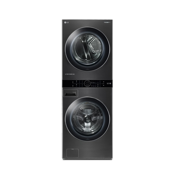 LG전자 W16KS 트롬 워시타워 원바디세탁건조기 트루스팀 블랙 스테인리스