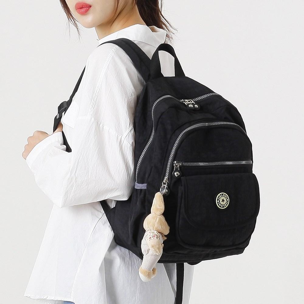 루루백 디아 생활방수 가벼운 여성백팩 여행용 여성 보조가방 책가방