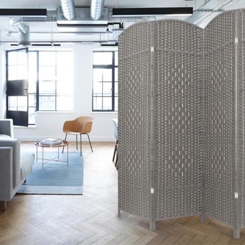 에코팩토리 인테리어 파티션 핸드메이드 라탄 칸막이 공간분리 가벽, [B-대형]150x200cm라탄올:그레이