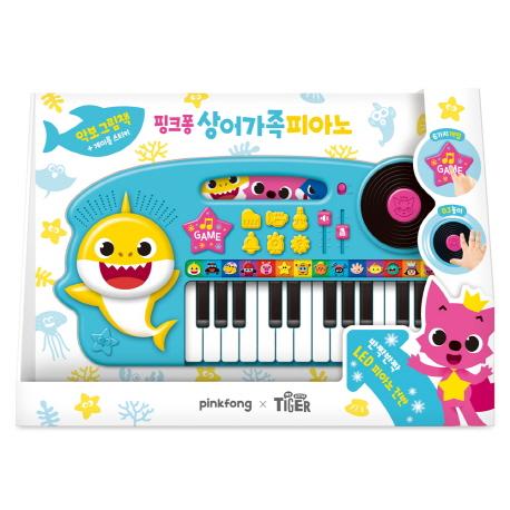 핑크퐁 상어가족 피아노:악보 그림책+계이름 스티커, 삼성출판사