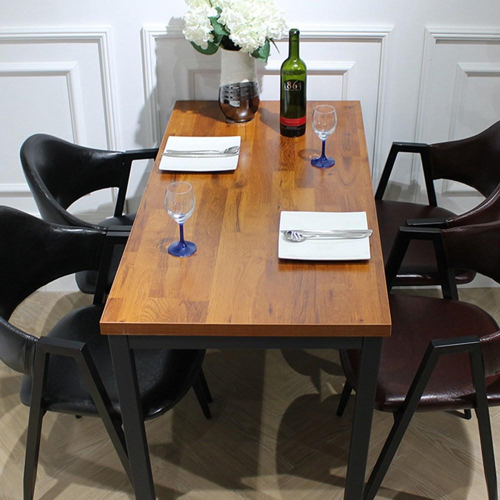 산들리빙 4인식탁 카페테이블 티 빈티지 업소용테이블 식탁테이블 1200, 01_라온1200
