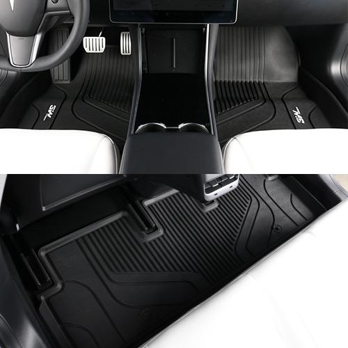테슬라 모델 3W 에코라이너 TPE 카매트 카 차 발 매트 바닥 발판 깔판, 단품