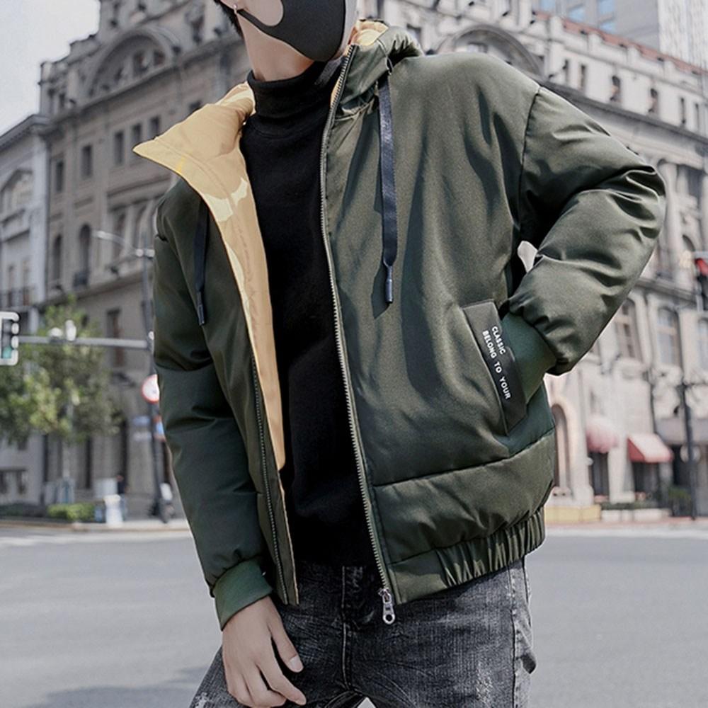 kirahosi 남자 블루종 자켓 간절기 패딩 겨울 보온 점퍼 숏 53호+덧신증정 Rxfwaw1