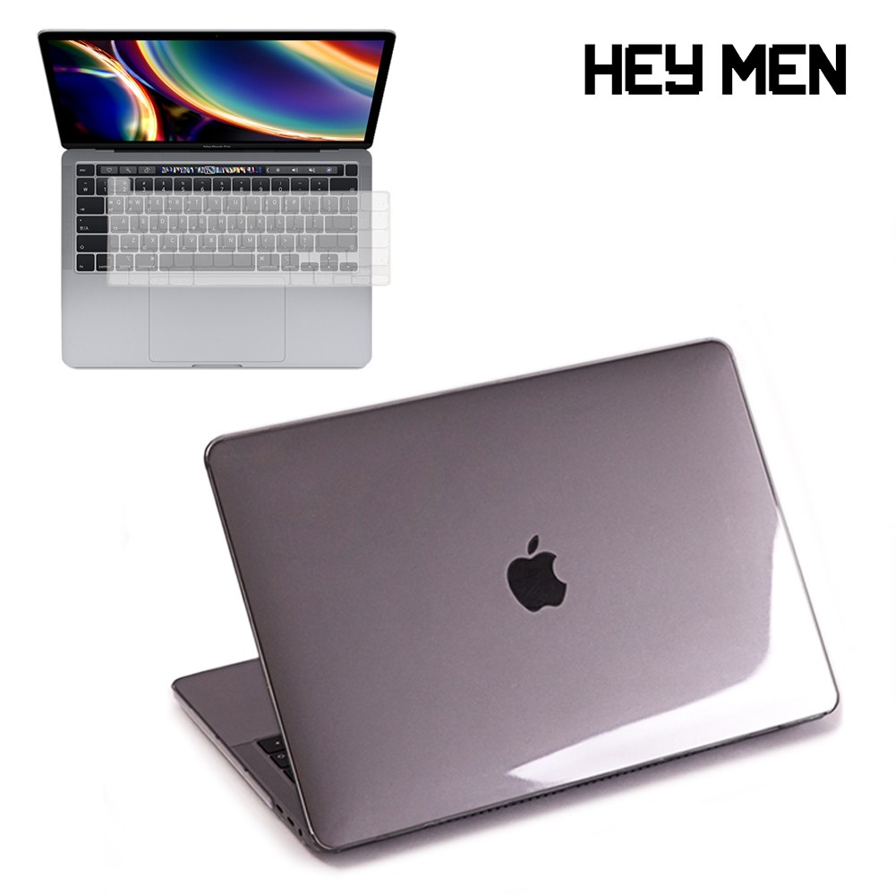헤이맨 맥북에어 13인치 2020 A2179 투명 케이스 + 키보드 스킨, 투명 케이스 + 투명 키스킨