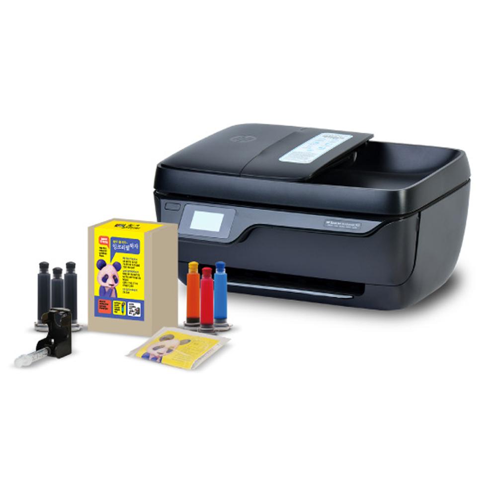 HP 3833 무한잉크복합기 잉크젯 프린터 팩스복합기, HP3833 팩스복합기+ 리필킷구성
