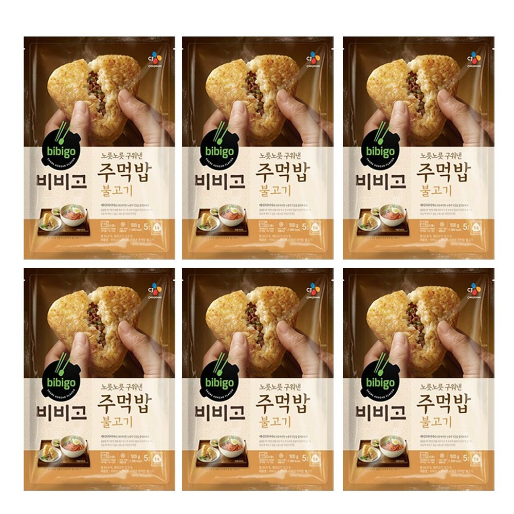 (냉동)비비고 구워낸주먹밥불고기500gx6개, 1세트