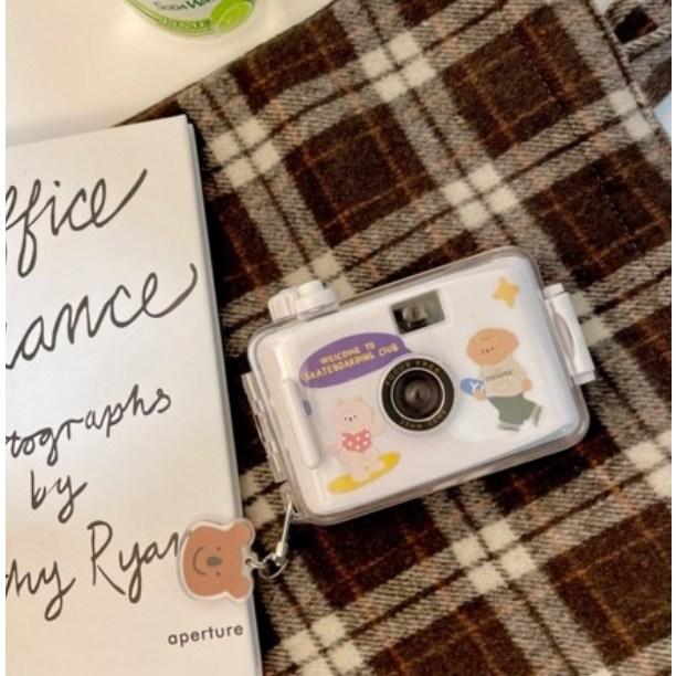 일본 레트로 필름 카메라 선물세트 8종 키링 얼룩말 가방 등 포함(마이수아 판매자 꼭 확인)