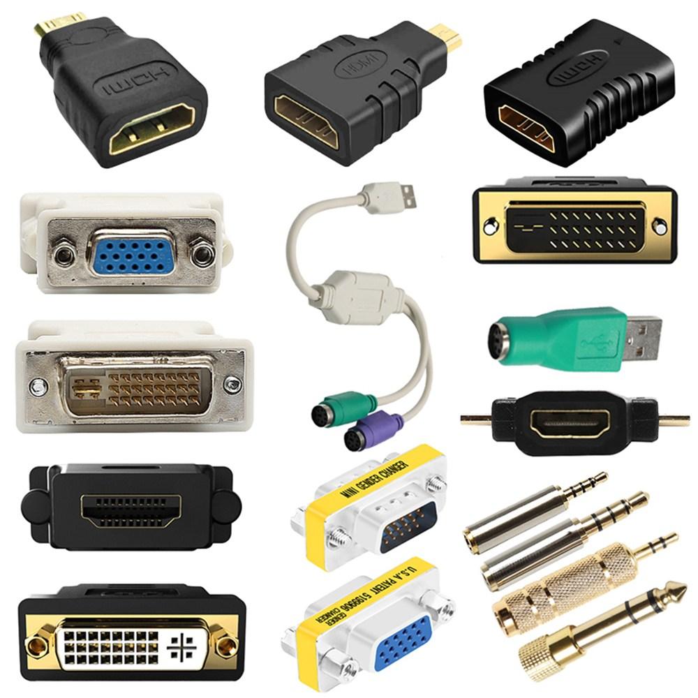 HDMI to VGA RGB DVI mini micro 변환 젠더 모음, 11_USB▶PS/2X2 변환젠더