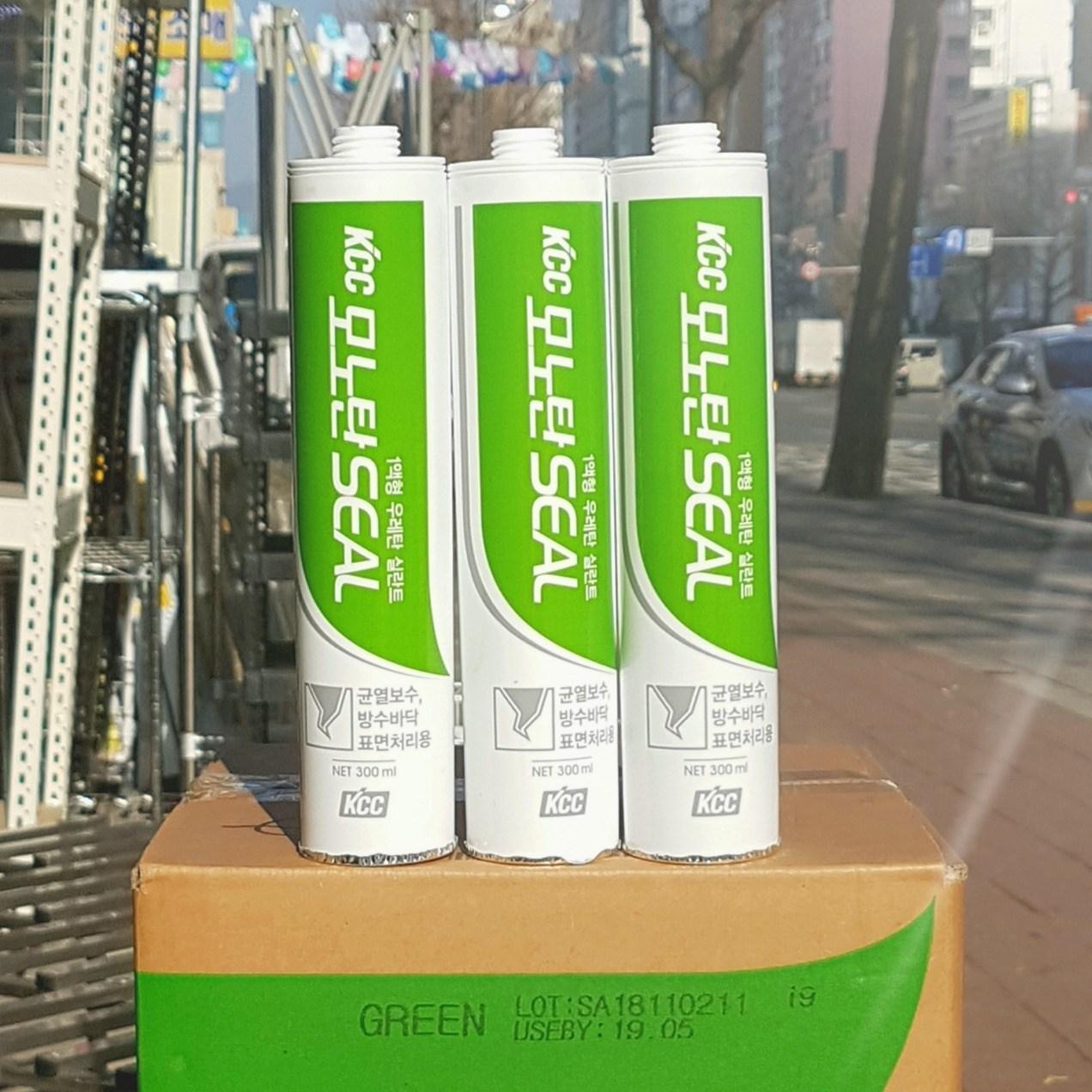 KCC 우레탄 실리콘 모노탄씰 녹색 300ml 옥상방수용